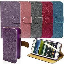 Handy Tasche für Samsung Galaxy Glitzer Schutz Hülle Flip Cover Case Etui Wallet