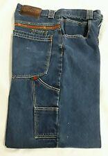 "Mens Vintage ""GET ROUGH USA"" Carpenter Jean Medium Wash Loose fit 33 X 32 inseam"