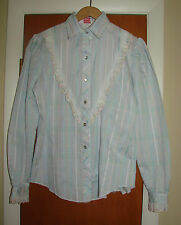 H Bar C California Ranchwear Vintage Pearl Snap Western Cowgirl Shirt Womens