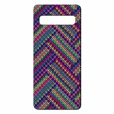 For Samsung Galaxy S10 Silicone Case Rainbow Knit Print Pattern - S4073