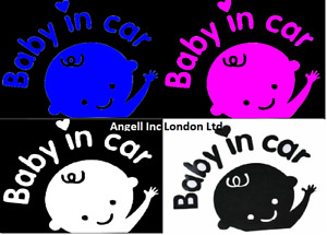 BABY IN CAR sticker newborn baby boy girl gift car window baby on board sticker