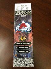 1995 Colorado Avalanche vs Chicago Blackhawks Ticket Stub