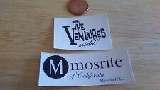 Mosrite guitar headstock decal set Ventures & Mosrite decals