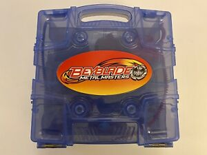 BEYBLADE METAL FUSION MASTERS LOT 9 BEYBLADES WITH CASE LAUNCHERS AND TOOL