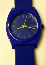 Nixon Minimal The Time Teller 10F BLUE  Watch *WORKING * NEW BATTERY INSTALLED *