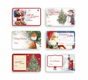 48 x CHRISTMAS STICKERS LABELS*PRESENTS*GIFTS*XMAS*LOVELY DESIGNS*SANTA*ROBIN