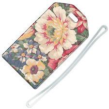 Decoración callejeros (Clásico Tela Floral) Etiqueta del equipaje/Viaje Etiqueta de identificación