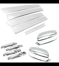 Stainless Pillar Post Trims+Plastic Handle+Mirror Covers For 11-16 Chrysler 300C