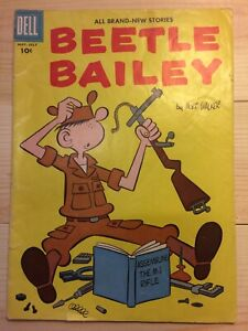Vintage BEETLE BAILEY Comic Book May - July 1957 by Mort Walker, Dell Comics #10