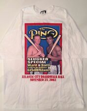 Arturo Gatti Micky Ward 2 II On Site T Shirt Atlantic City 11/23/02 XXL 2XL