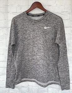 Nike Womens Therma Sphere Element Crewneck Running Top - Heathered Grey - Medium