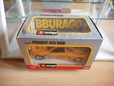 Bburago burago Peugeot 405 Turbo 16 Raid Rally in Yellow on 1:24 in Box
