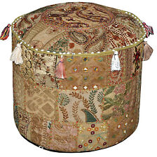Large Bohemian Ottoman pouf floor pillow decorative Cushion stool chair pouffe