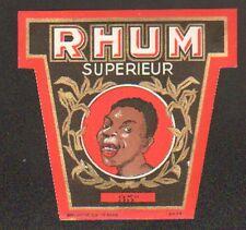 ETIQUETTE de RHUM / RHUM SUPERIEUR / Portrait HOMME ANTILLAIS
