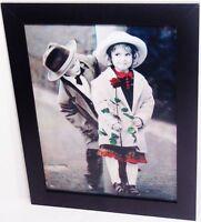 3 d Effekt - Bild Bilder mit Holzrahmen schwarz Kind Kinder - Paar Freunde     P