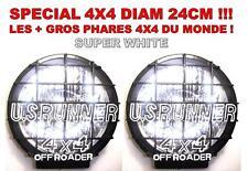 2 SUPER PHARES 24CM 4X4 LAND RANGE PAJERO L200 PATROL NAVARA JEEP HDJ HUMMER KDJ