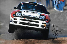 Carlos Sainz  SIGNED 12x8  Toyota Celica Turbo 4WD , Rally Safari 1992