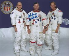 JOHN YOUNG SIGNED APOLLO 16 CREW PHOTO - UACC & AFTAL RD ASTRONAUT AUTOGRAPH