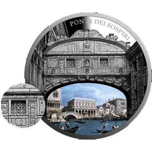 SOS. Venice – End or beginning ? - Ponte Dei Sospiri Proof Silver Coin Niue 2017
