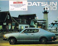1976 Datsun 610 Brochure / Catalog with Specifications: Sedan, Hardtop, Wagon