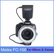 Meike FC100 Flash Light Macro Ring For Canon & Nikon D7100 D7000 D5200 D5100 ...