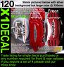Brake Caliper decal sticker fit John Cooper S Larger 120mm silver background x1