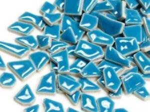 Blue Ceramic Puzzle Pieces - Mosaic Tile Supplies Art Craft