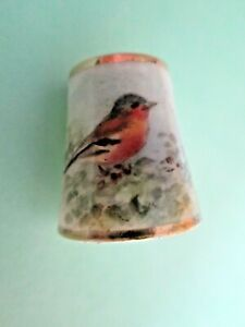 Royal Worcester Porcelain Hand Painted Thimble Puce Mark signed Powell