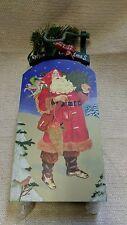 "Vintage Hallmark Wooden Sled w/ Santa & Merry Christmas 15"" 160910"