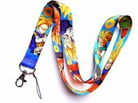 DRAGON BALL Z LANYARD anime Goku Vegeta Gohan Trunks neck strap ID DBZ badge Z1
