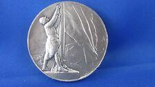 ancien grosse medaille bronze argenté benard guerre 14 poilu militaire 6.8cm 2