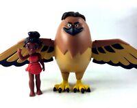 Moana & Hawk Maui Hasbro Disney Moana Oceania Adventures Figure Lot 2016 Demigod