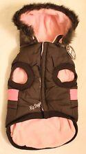 Hip Doggie Brown Pink Reversible Jacket Vest Coat NWT - BDXL big dog extra large