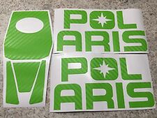 Polaris RZR 1000 / XP1K / XP1000 - Lime Green Carbon Fiber Inlay Decals FULL SET