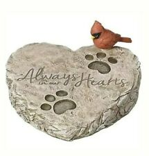Garden Stone-Pet Memorial-Always In Our Hearts W/Cardinal