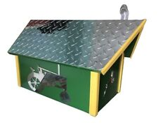 COUNTRY TRACTOR MAILBOX - Diamond Plate Green & Yellow Poly Mail Box Amish USA