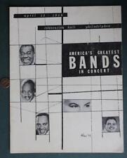 1958 Philadelphia,Pennsylvania Louis Armstrong-Count Basie Jazz Concert Program*