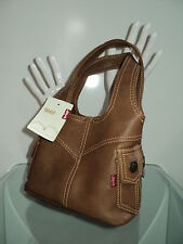 NEW RARE LEVI'S MINI TOTE PURSE BROWN JEAN STYLE POCKET STYLE EVENING/DAY BAG