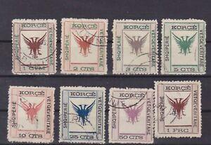 albania 1917 Sc  54/61 set,used     q1146
