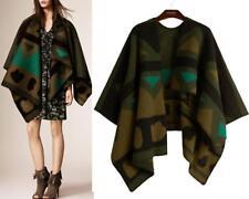 AU SELLER Blanket Poncho Cape Plaid Cloak Coat Warm Oversize SCARF/SHAWL sc072-4