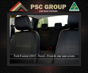 Seat Cover Ford Everest Front(FB + MP) & Rear 100% Waterproof Premium Neoprene