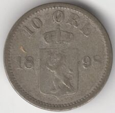 More details for 1898 norway silver 10 ore   pennies2pounds