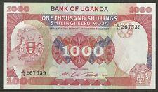 UGANDA $1000 SHILLINGS P.26 (UNC) FROM 1986.