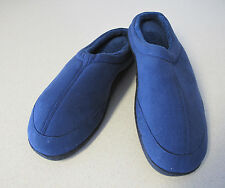 Men's Home Slippers Navy Totes Isotoner fleece US 8-9 UK 7-8 or 39-40 New
