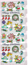 """BEAUTIFUL FUN STICKERS """" CHRISTMAS TIME """" FOR CARDS & CRAFT"""