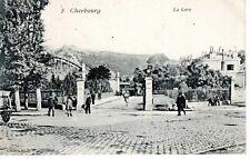 50 - CPA  CHERBOURG - La Gare