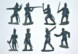 Marx Mexican War (French style Uniforms)  60mm Unpainted eight figures full set