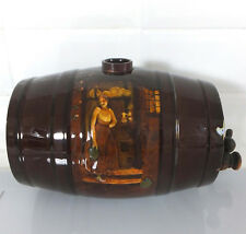 Rare Royal Doulton Kingsware whisky barrel depicting tavern scenes