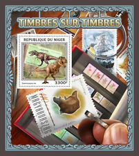 Niger  2016  stamps on stamps,  dinoaurs