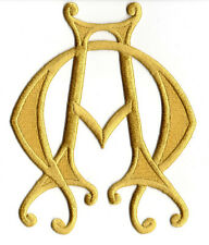 Alpha & Omega-Christian-Liturgical-Vestment-Embroidered Iron On Symbol Patch